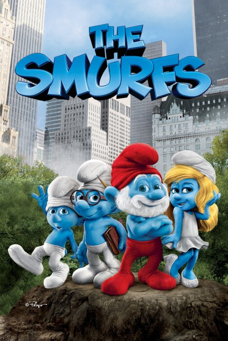 the smurfs movie psoter