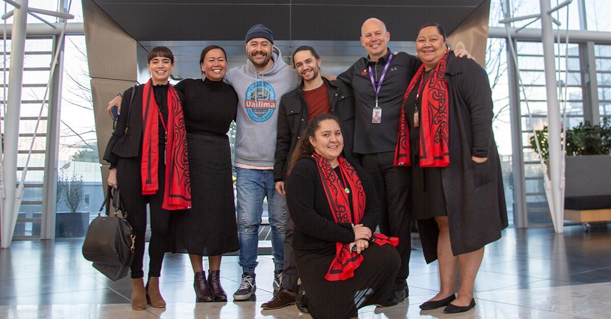 Te Ha Whero Group welcome Joe Goddard at Powhiri