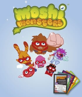 Moshi Monsters advertising card