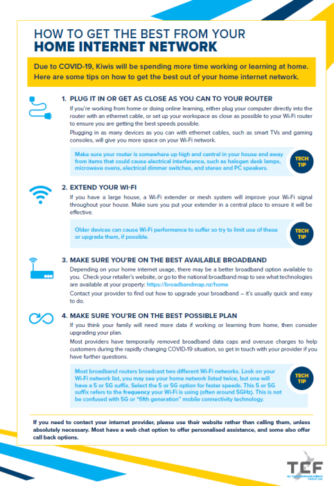 TCF tips on how to get the best from your home internet